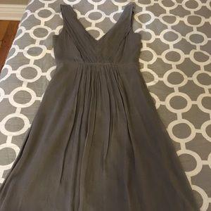 J. Crew Louisa Dress Silk Chiffon, Light Gray